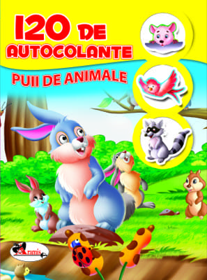 120 De Autocolante Puii De Animale