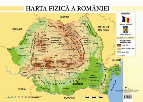 Harta Fizică A Romaniei Format A4