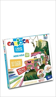 Set creativ Create & Color Carioca Miss Wild 3D