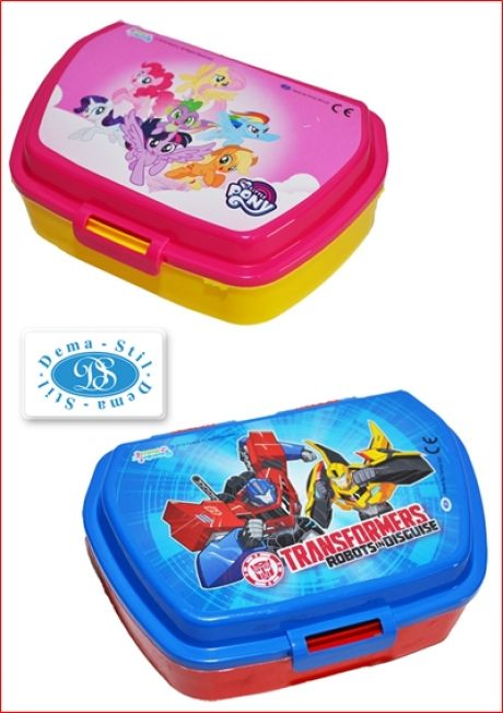Cutie cu capac depozitare / transport / sandwich My Little Pony / Transformers - Macedonia